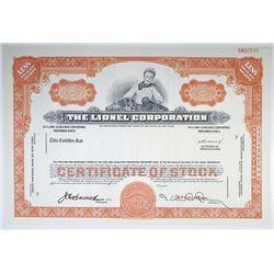 Lionel Corp., ND ca.1950-60's Specimen Stock Certificate.