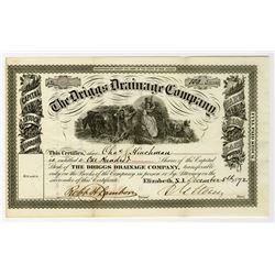 Driggs Drainage Co. 1872 I/U Stock Certificate