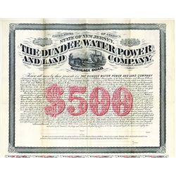 Dundee Water Power and Land Co. 1882 Specimen Bond