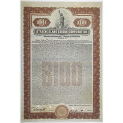 Staten Island Edison Corp. 1923 Specimen Bond