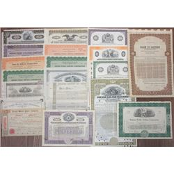 Large Group of Northern States Utilities Stocks and Bonds, ca.1897-1937.
