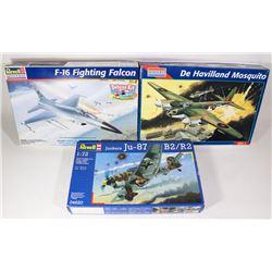 SET OF 3 AIRCRAFT MODEL KITS