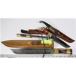 LOT OF UYGHUR HAND MADE KNIVES