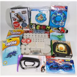 FLAT OF ASSORTED KIDS TOYS/ ACCESSORIES &