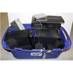 LARGE TOTE FULL OF ASSORTED ELECTRONICS