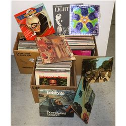 BOX OF LP RECORDS INCLUDING: BEATLES ABBEY ROAD