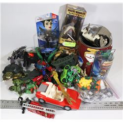 ACTION FIGURE AND VEHICLES MIXED TOY LOT