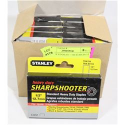 CASE OF STANLEY + T50 STAPLES 1/2 INCH