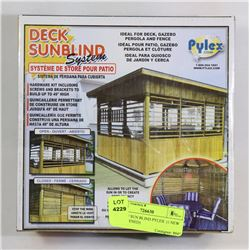 2 BOXES OF SUN BLIND PYLEX (1 NEW)