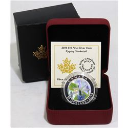 2015 SILVER CANADA $10 DRAGONFLY COIN