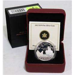 2012 SILVER CANADA $10 R.M.S. TITANIC COIN