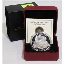 2009 SILVER CANADA $20 COAL MINING COIN