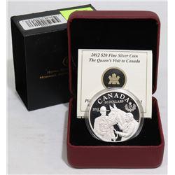 2012 SILVER $20 QUEEN & RCMP COIN