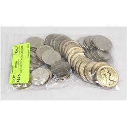 $34.50 FACE VALUE CANADA NICKEL $1 & 50c