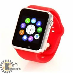 NEW RED BLUETOOTH SMARTWATCH WITH CAMERA