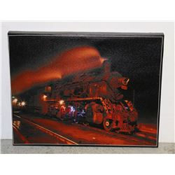 ELECTRIFIED TRAIN STRETCHED CANVAS PICTURE
