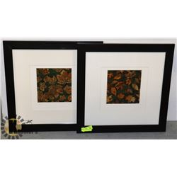 """FRAMED NATURE PICTURES (2) MEASURES 23"""" X 23"""""""