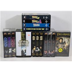 LOT OF VHS MOVIE COLLECTOR SETS INCLUDING STAR WAR
