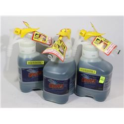 THREE 1.5L BOTTLES OF COMMERCIAL WINDEX