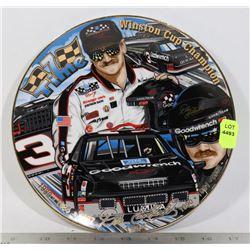 24 KT EARNHARDT LIMITED PLATE NASCAR W/STAND