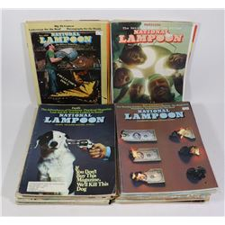 MAGAZINES BOX OF NATIONAL LAMPOON; VARIOUS ISSUES