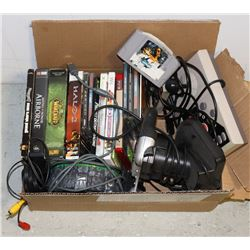 MIXED LOT OF VIDEOGAMES AND ACCESSORIES