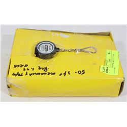 50 KEY CHAINS WITH 3 FT TAPE MEASURE