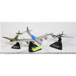 LOT OF 3 MODEL AIRPLANES