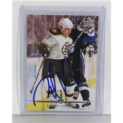 MILAN LUCIC AUTOGRAPHED BOSTON BRUINS CARD
