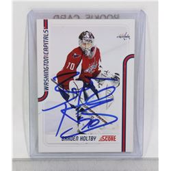 BRAYDEN HOLTBY WASHINGTON CAPITALS SIGNED CARD