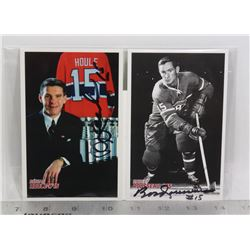 3 AUTOGRAPHED MONTREAL CANADIENS POSTCARDS HOULE