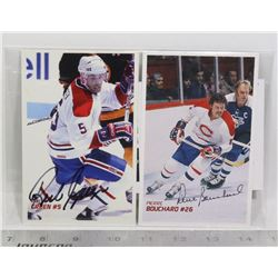 3 AUTOGRAPHED MONTREAL CANADIENS POSTCARDS