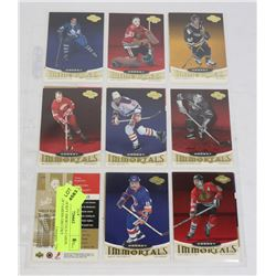 15 UD HOCKEY IMMORTALS CARDS HALL OF FAMERS GRETZKY