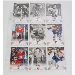 13 MONTREAL CANADIENS CENTENNIAL UD 2008 CARDS