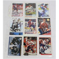 LOT OF 9 WASHINGTON CAPITALS AUTOGRAPHED CARDS