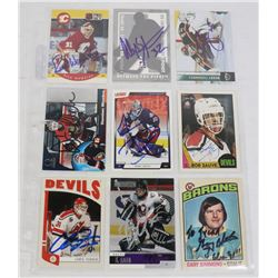 LOT OF 9 AUTOGRAPH NHL GOALIE CARDS