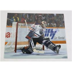 BILL RANFORD EDMONTON OILERS SIGNED 8X10 PHOTO