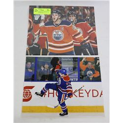 2 CONNOR MCDAVID EDMONTON OILERS 8X10 PHOTOS