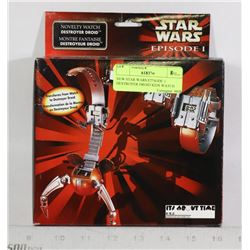 NEW STAR WARS EPISODE 1 DESTROYER DROID KIDS WATCH