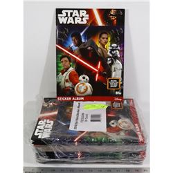 x30 STAR WARS NEW STICKER ALBUMS