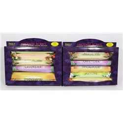 TWO 6 PACKS OF ASSORTED  INCENSE SCENT STICKS