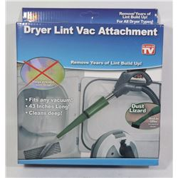 NEW DRYER LINT VAC ATTACHMENT, FITS ANY VACUUM