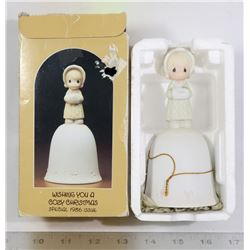 VINTAGE 1986 PRECIOUS MOMENTS XMAS BELL ORNAMENT