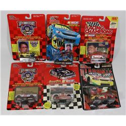 LOT OF SIX 1:62 SCALE RACING CHAMPIONS NASCARS