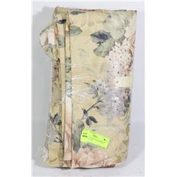 NEW BOLT OF BEIGE FLOWERED MATERIAL (7 M)