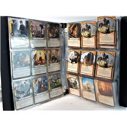 22)  BINDER OF 522 GAME OF THRONES GAME