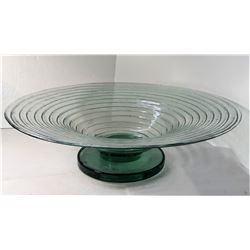 """26)  HAND CRAFTED RIBBED 19"""" DIAMETER"""