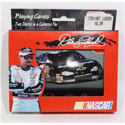 NASCAR 2 PACK CARD SET IN A TIN BOX DALE EARNHARDT