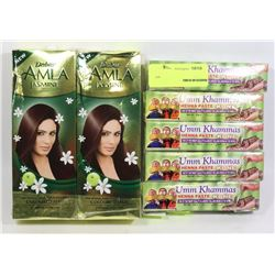 5 TUBES OF HENNA PASTE SOLD WITH TWO BOTTLES OF