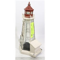 CANDLE LIGHTHOUSE METAL 12""